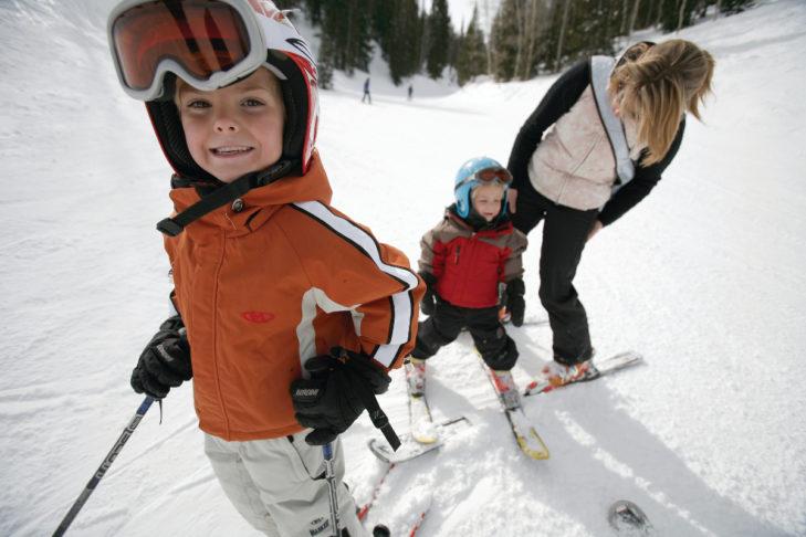 Auch die Kleinsten kommen im Skigebiet Park City groß raus.