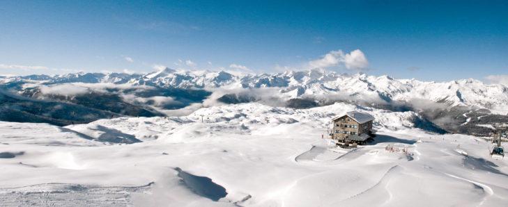 Wahnsinns-Panorama im Skigebiet Pinzolo.