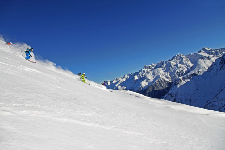Ein Traum in weiß: Das kleine Skigebiet Les 7 Laux.