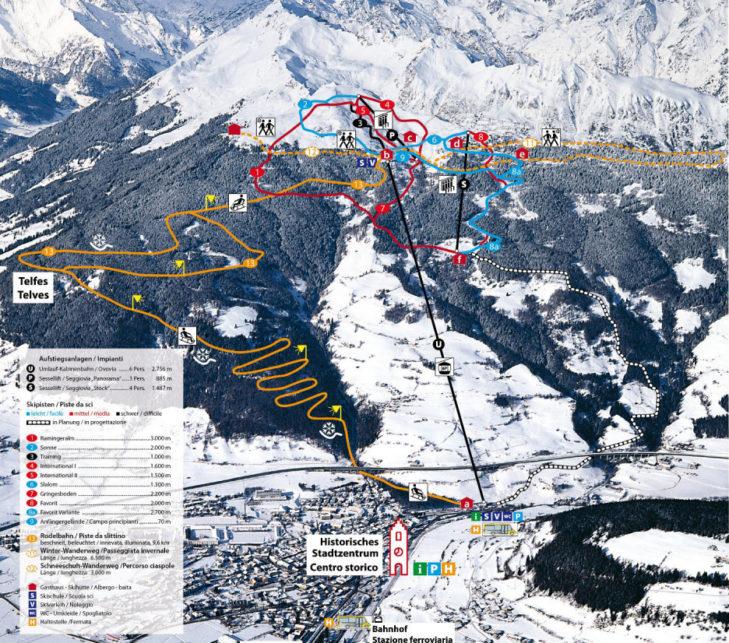 Pistenplan Skigebiet Rosskopf