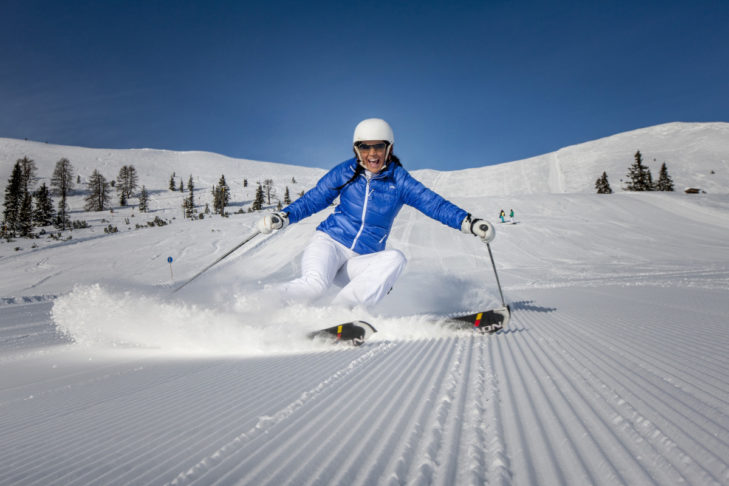 Pistenspaß im Skigebiet Grebenzen.