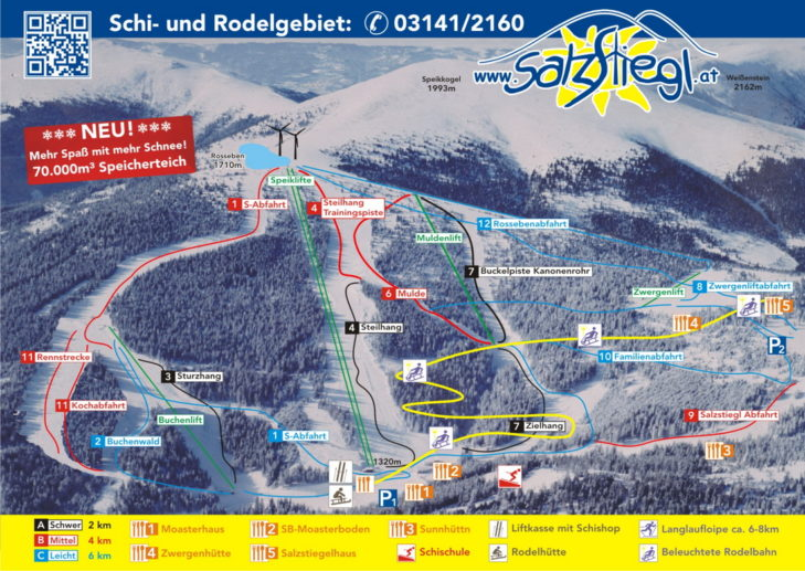 Pistenplan Skigebiet Salzstiegl