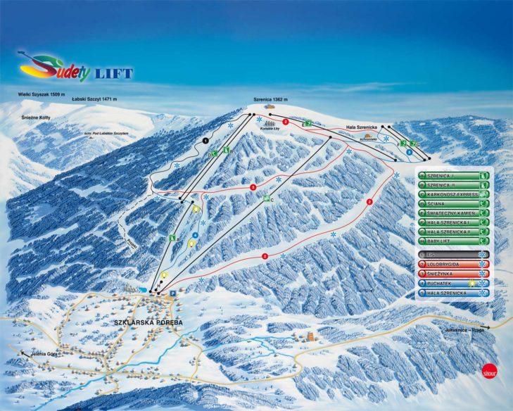Pistenplan Skigebiet Schreiberhau