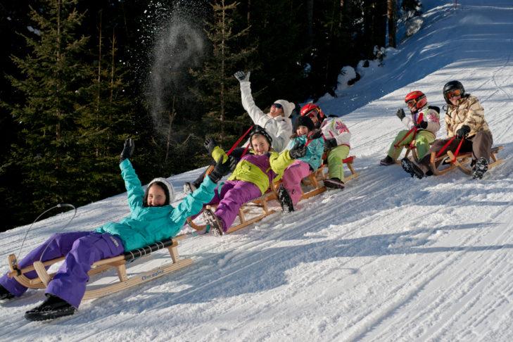 Skigebiet See im Paznauntal: Rodelspaß mit der ganzen Familie.