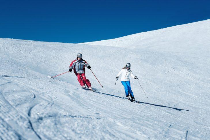 Skigebiet Tirolina: Breite Pisten für Genussfahrer.