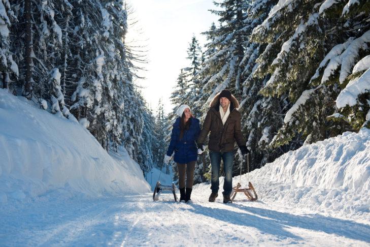 Skigebiet Tirolina: Rodeln gehört in Thiersee zum vielseitigen Freizeitprogramm.