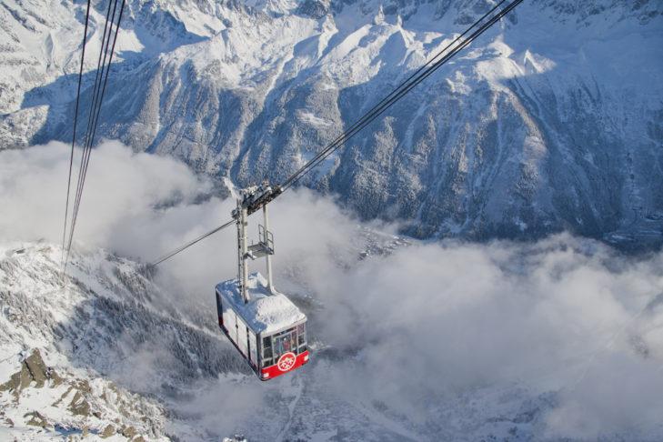 Am Mont Blanc, dem höchsten Berg der Alpen, geht`s hoch hinauf.