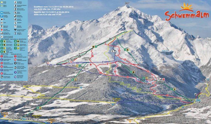 Pistenplan Skigebiet Schwemmalm.