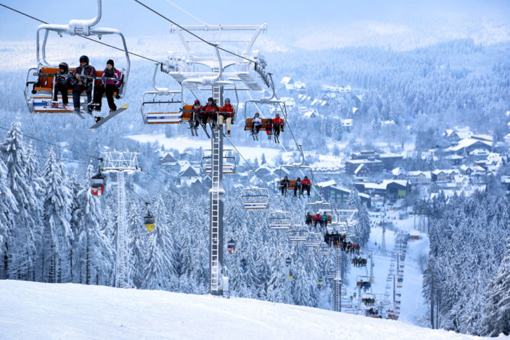 Eines der nördlichsten Skigebiete Deutschlands: das Skigebiet Bocksberg.