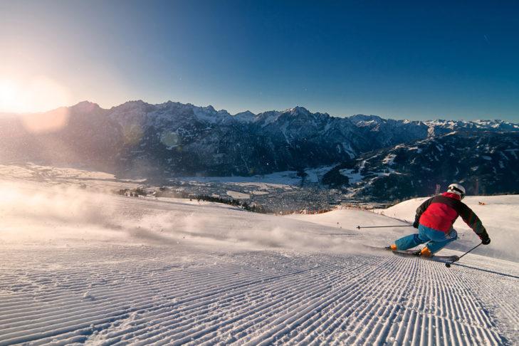 Im Skigebiet Zettersfeld/Hochstein macht Skifahren einfach Spaß.
