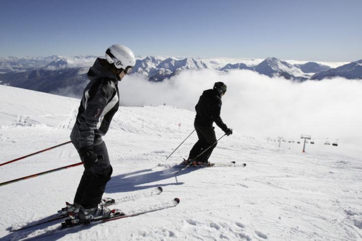 Das Skigebiet Schwemmalm liegt eingebettet im schönen Ultental.