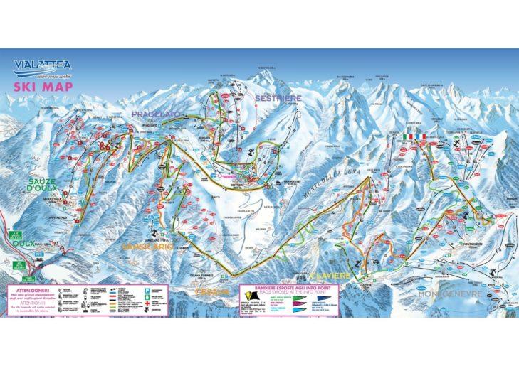 Pistenplan Skigebiet Via Lattea.