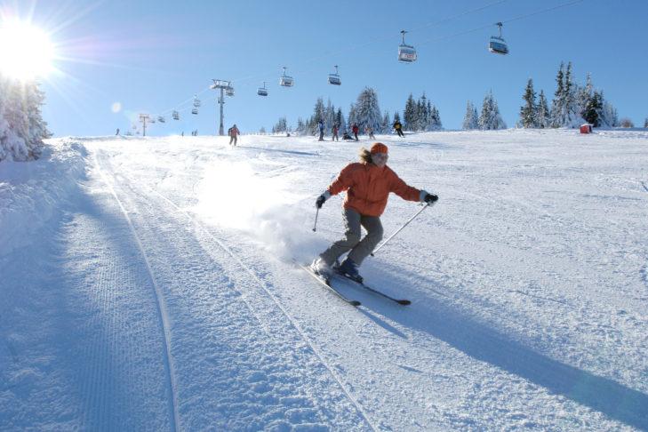 Im Kärntner Lavanttal gelegen: Das Skigebiet Koralpe.