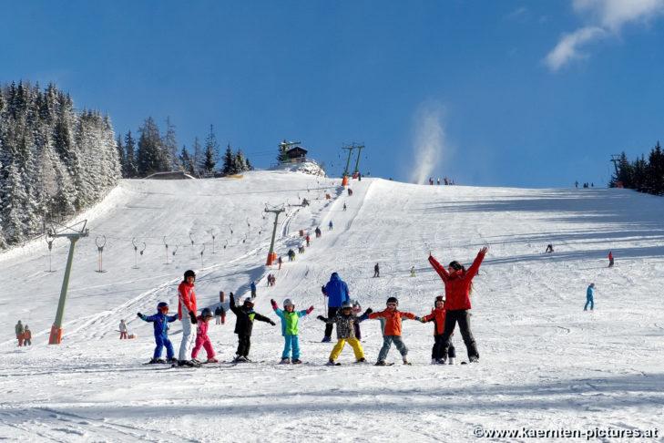 Das Skigebiet Simonhöhe ist ideal, um das Skifahren zu erlernen.