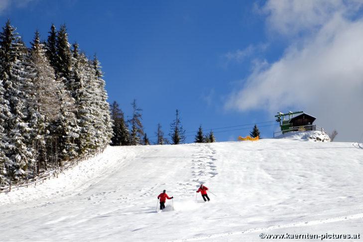 Die Pisten im Skigebiet Simonhöhe sind sowohl für Könner als auch für Anfänger geeignet.