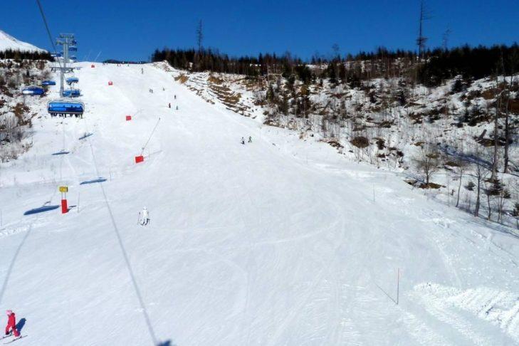 Das Skigebiet Starý Smokovec im Norden der Slowakei.