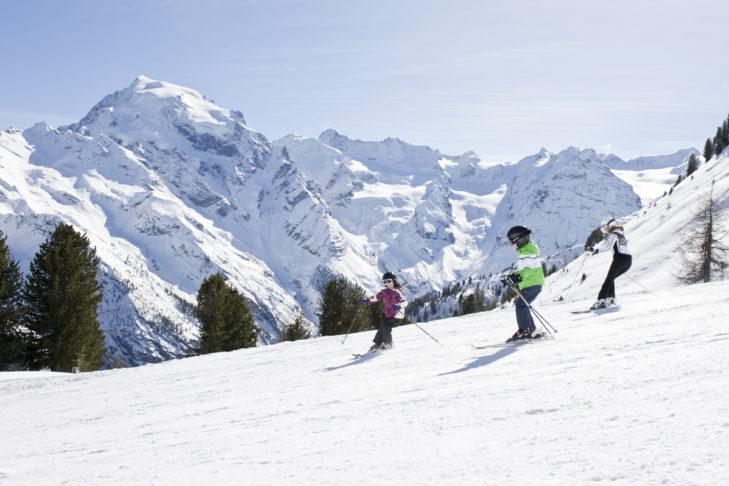 Das Skigebiet Furkel ist umrahmt von mehr als zehn Dreitausendern.