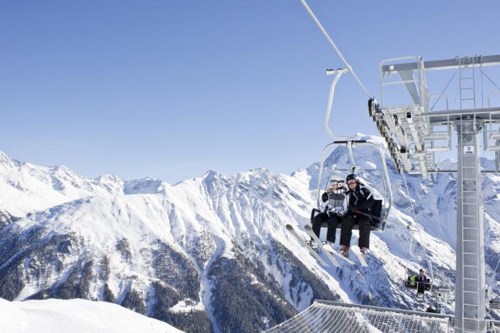 Im Skigebiet Furkel geht es auf bis zu 2.400 m hoch.