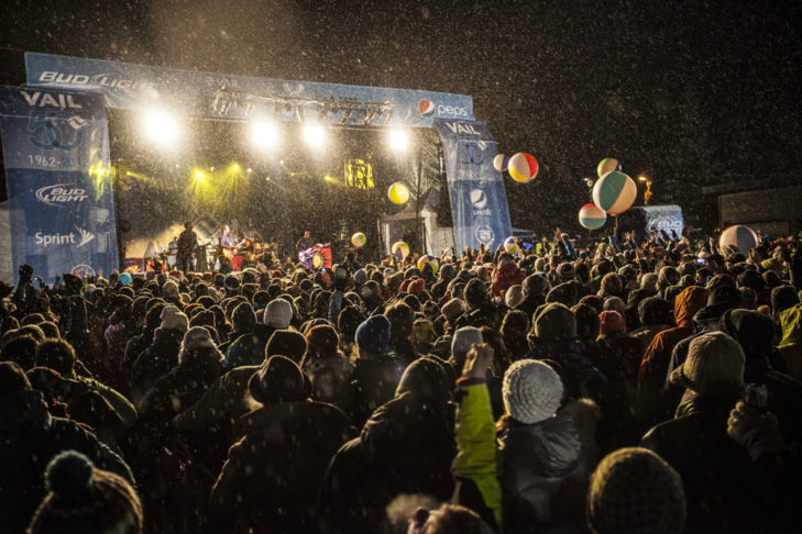 Après-Ski-Konzert in Vail.
