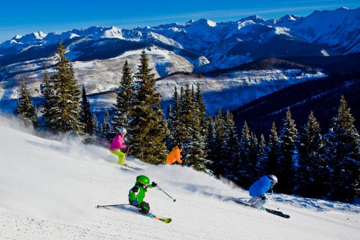 Im Skigebiet Vail gibt es Pisten für Könner wie für Einsteiger.