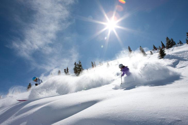 Feinster Powder im Skigebiet Vail.