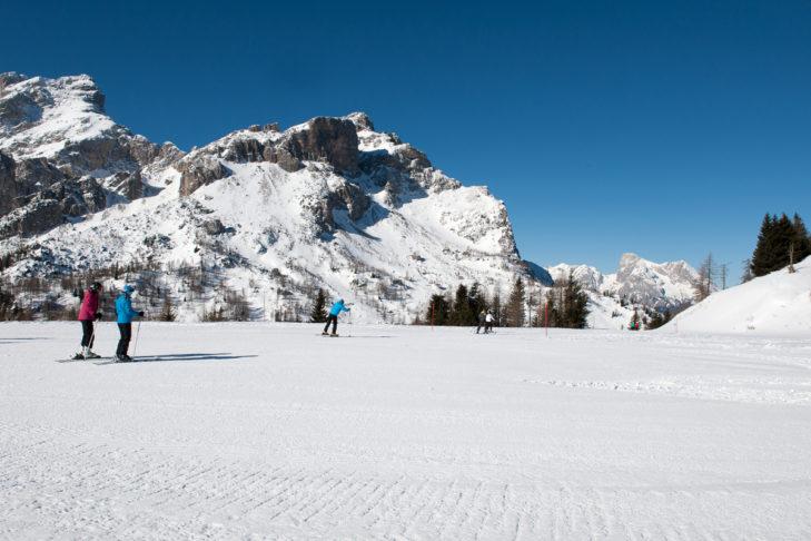 Im Skigebiet Civetta gibt es Pisten für Groß und Klein.