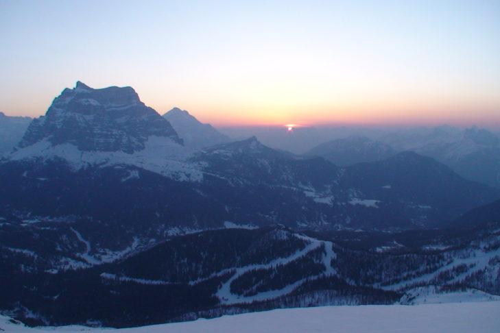 Wahnsinns-Blick auf die Dolomiten vom Skigebiet Civetta aus.