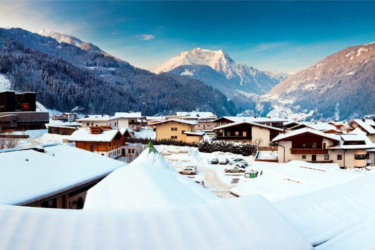 Blick auf einen Teil von Mayrhofen.