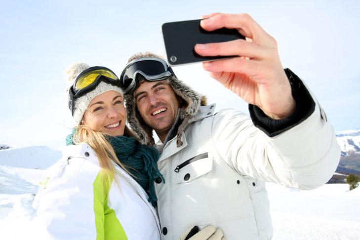 Immer beliebt: Selfies aus dem Urlaub.