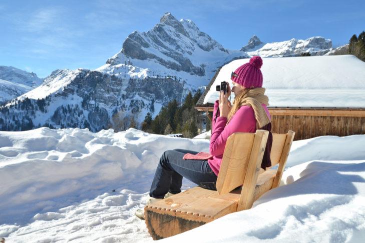 Fotos aus dem Winterurlaub verschicken - Auch das Panorama ist ein beliebtes Motiv im Urlaub.
