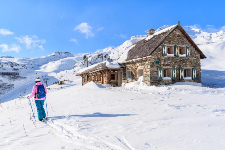 Tolle Schneehöhen im Skigebiet Obertauern.
