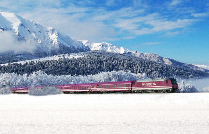Mit diesem Zug ging es nach Zell am See-Kaprun.