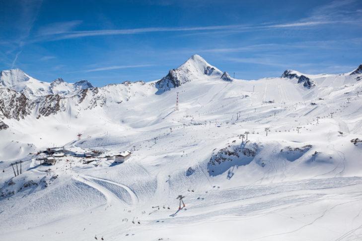 Das Gletscherskigebiet am Kitzsteinhorn mit seinen traumhaften Abfahrten.