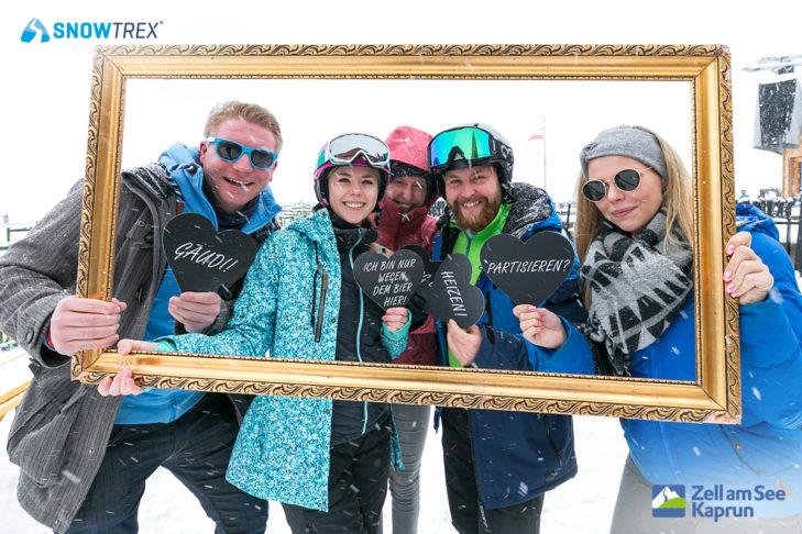 SnowTrex-Fotoaktion an der SchnapsHans Bar.