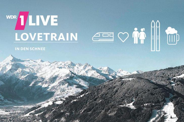Der 1LIVE Lovetrain ging 2018 nach Zell am See-Kaprun.