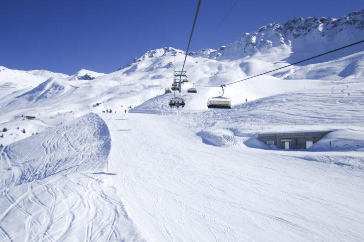 Traumhafte Piste im Skigebiet Arosa-Lenzerheide.