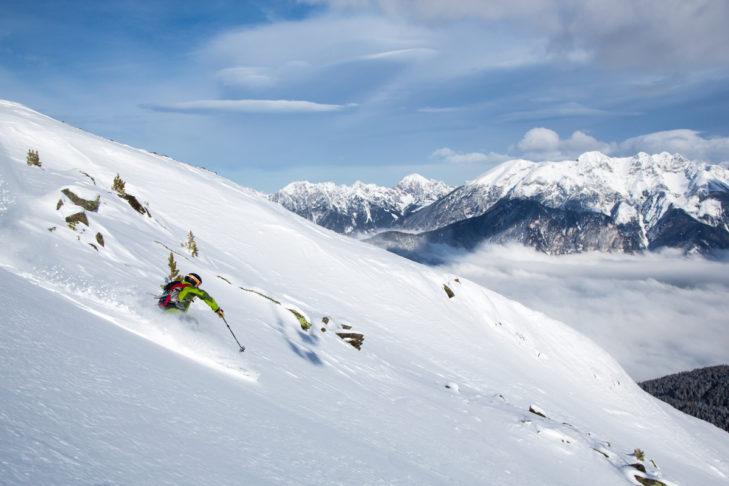 Unberührte Routen und traumhaftes Bergpanorama - das ist Freeriden.