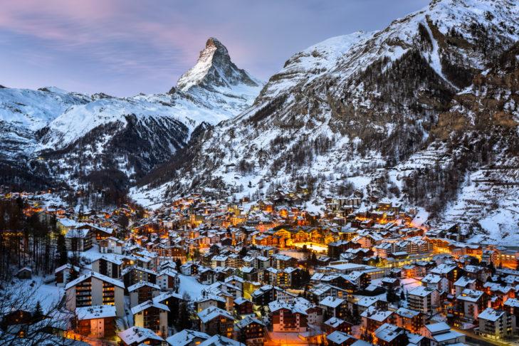 Zermatt im Lichte des Matterhorns.