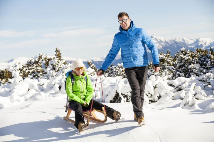 Nach dem Skifahren: Rodeln am Rittner Horn.