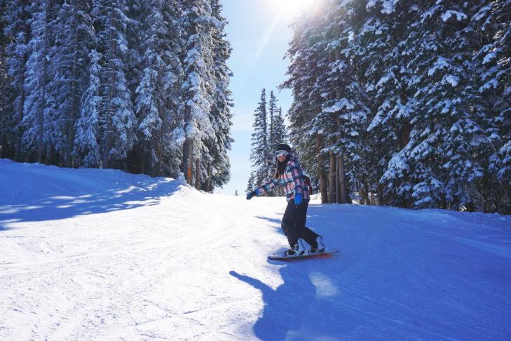 Skifahren in den USA: Waldabfahrten sind in Nordamerika besonders beliebt.