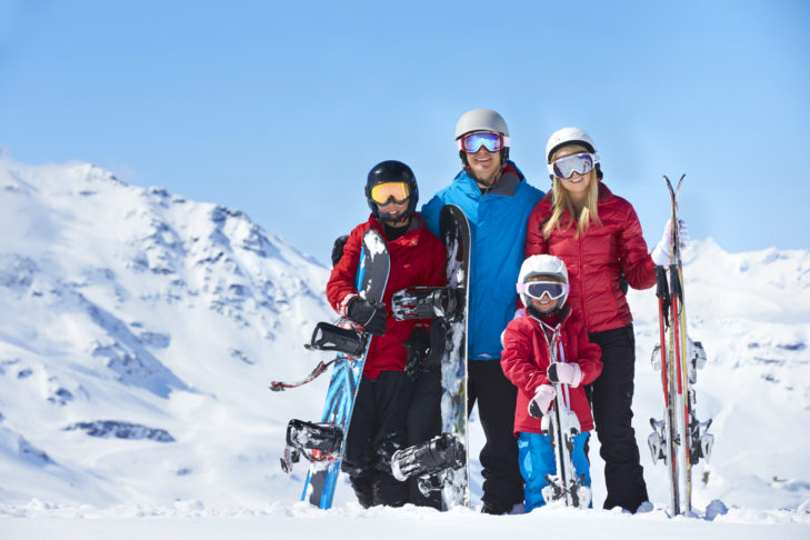 Pauschalreisen bieten Skispaß für die ganze Familie.