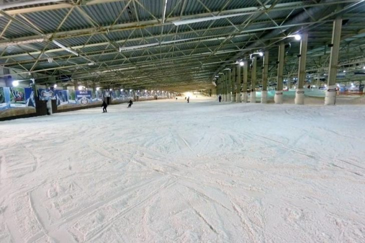 Die Hauptpiste in der SnowWorld Landgraaf.