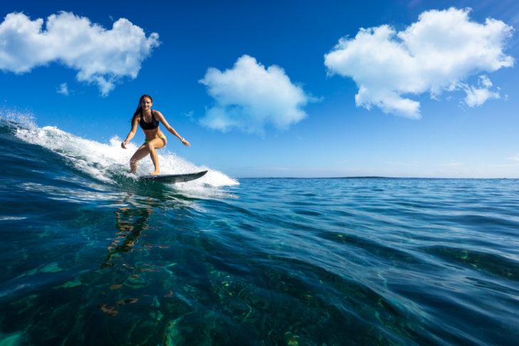 Surfen zählt zu den schönsten Funsportarten.