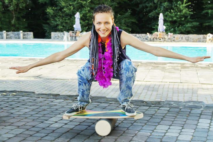 Volle Gleichgewichts-Kontrolle mit dem Balance-Board!