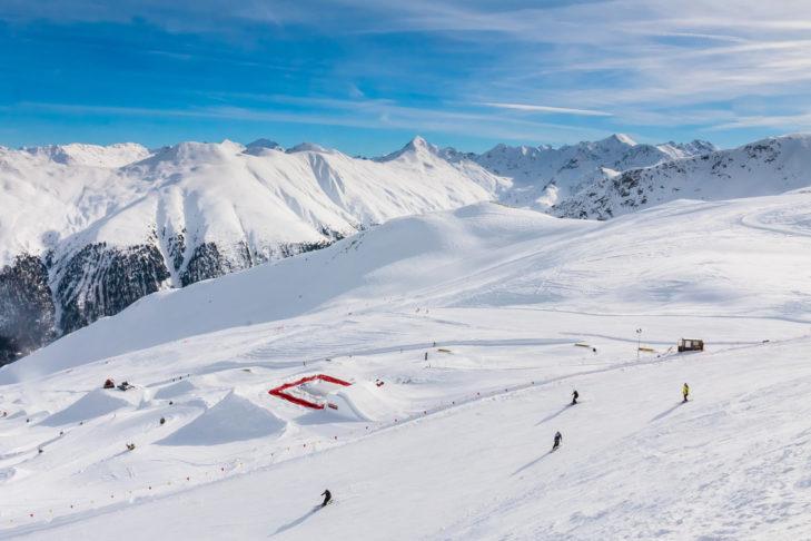 Abwechslungsreiche Pisten im Skigebiet Livigno.