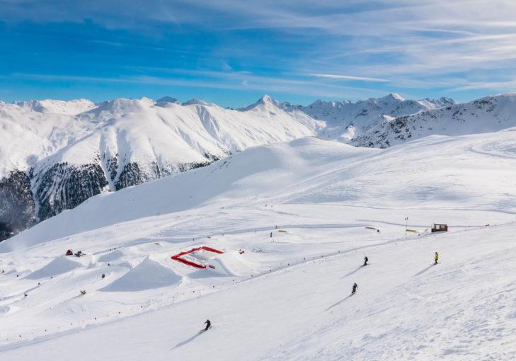 Das Skigebiet Livigno verfügt über ein ansehnliches Funpisten-Angebot inklusive zweier Snowparks.