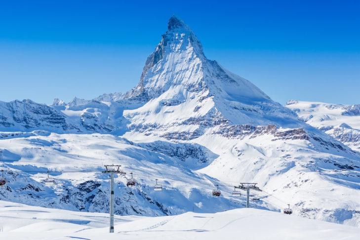 Einer der höchsten Berge der Alpen: das Matterhorn.