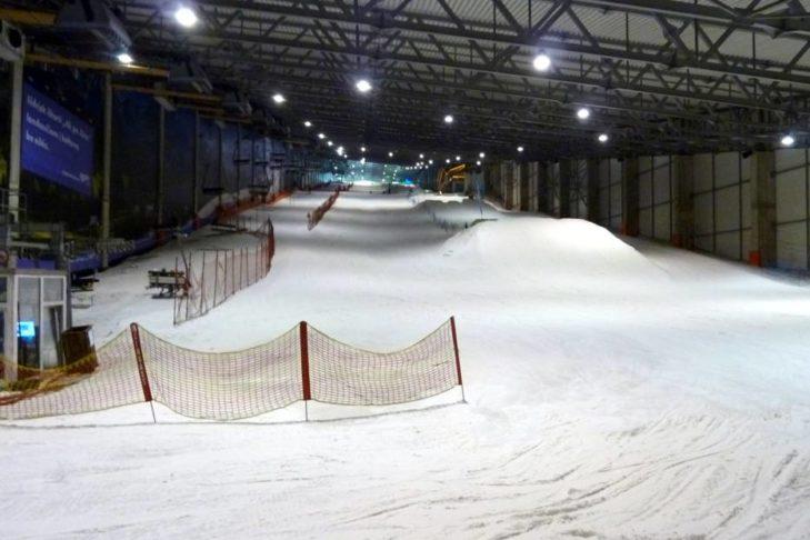 Die Piste in der Skihalle Druskininkai.