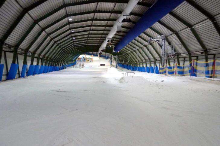 """Am """"Gipfel"""" in der Skihalle in Rucphen."""
