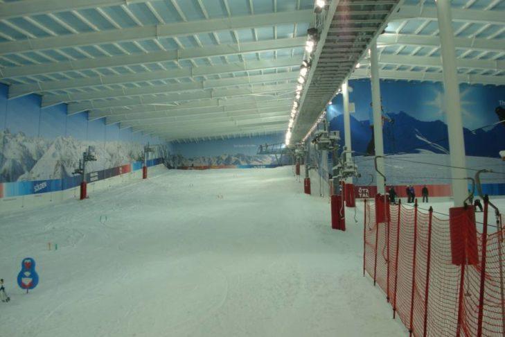 Hauptabfahrt im Snow Centre.